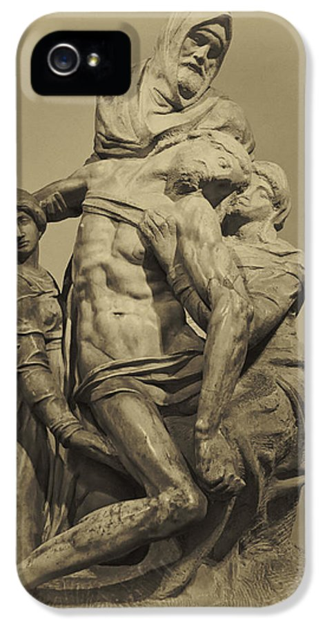 Architecture Art IPhone 5 Case featuring the photograph Michelangelo's Florence Pieta by Melany Sarafis