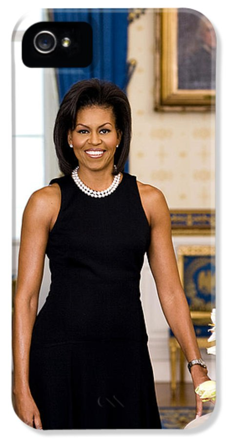 Admiral IPhone 5 Case featuring the digital art Michelle Obama by Official White House Photo
