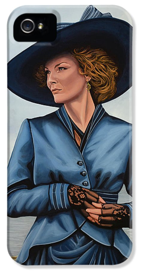 Michelle Pfeiffer IPhone 5 Case featuring the painting Michelle Pfeiffer by Paul Meijering