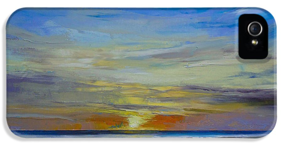 Midnight IPhone 5 Case featuring the painting Midnight Sun by Michael Creese