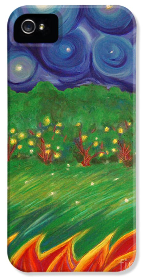 First Star Art IPhone 5 Case featuring the painting Midsummer By Jrr by First Star Art