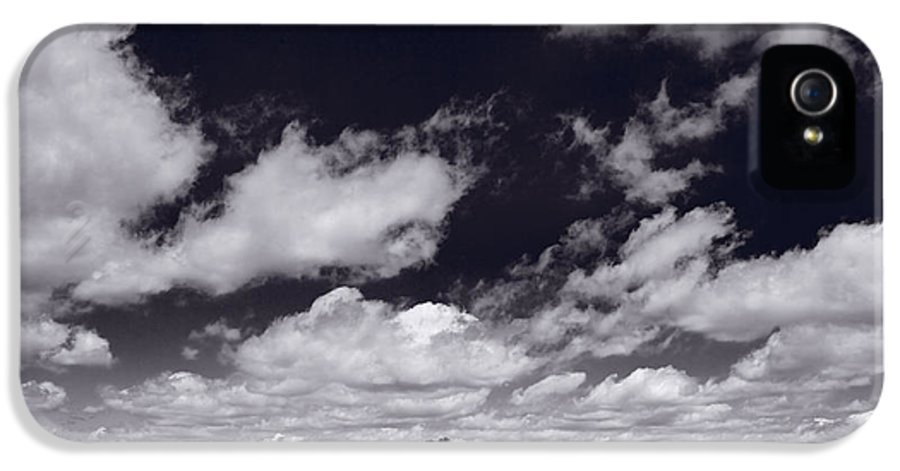 Cloud IPhone 5 Case featuring the photograph Midwest Corn Field Bw by Steve Gadomski