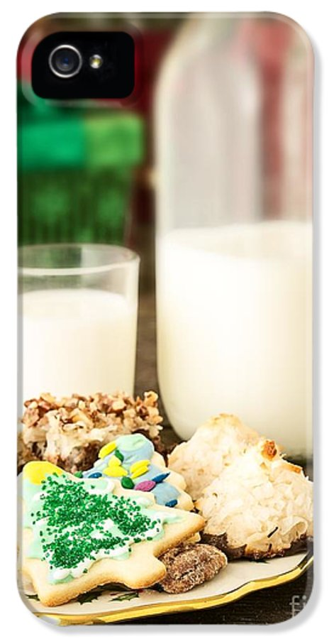 Christmas IPhone 5 Case featuring the photograph Milk And Cookies by Edward Fielding