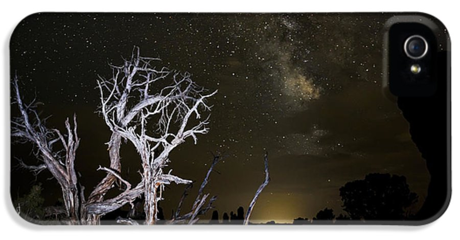3scape Photos IPhone 5 Case featuring the photograph Milky Way Over Arches National Park by Adam Romanowicz