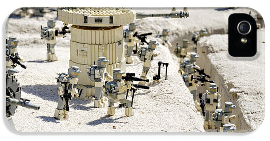 Star IPhone 5 Case featuring the photograph Mini Hoth Battle by Ricky Barnard