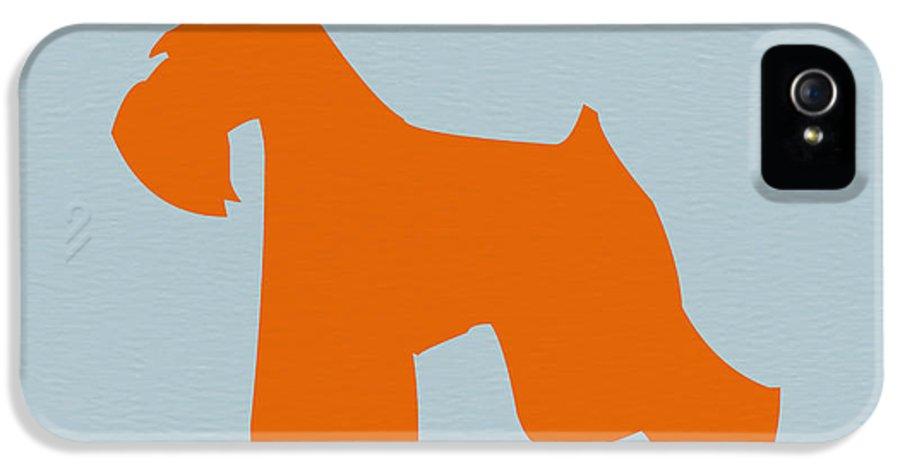 Miniature Schnauzer IPhone 5 / 5s Case featuring the digital art Miniature Schnauzer Orange by Naxart Studio