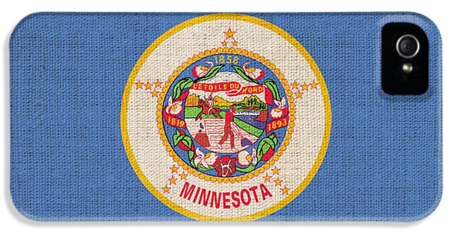 Minnesota IPhone 5 Case featuring the painting Minnesota State Flag by Pixel Chimp