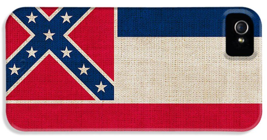 Mississippi IPhone 5 Case featuring the painting Mississippi State Flag by Pixel Chimp