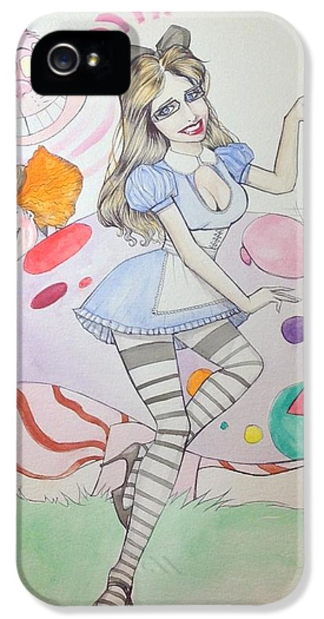 Wonderland IPhone 5 Case featuring the drawing Misty Kay In Wonderland by Jimmy Adams