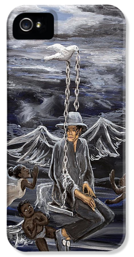 Michael Jackson IPhone 5 Case featuring the painting Mj 2 by Roger James