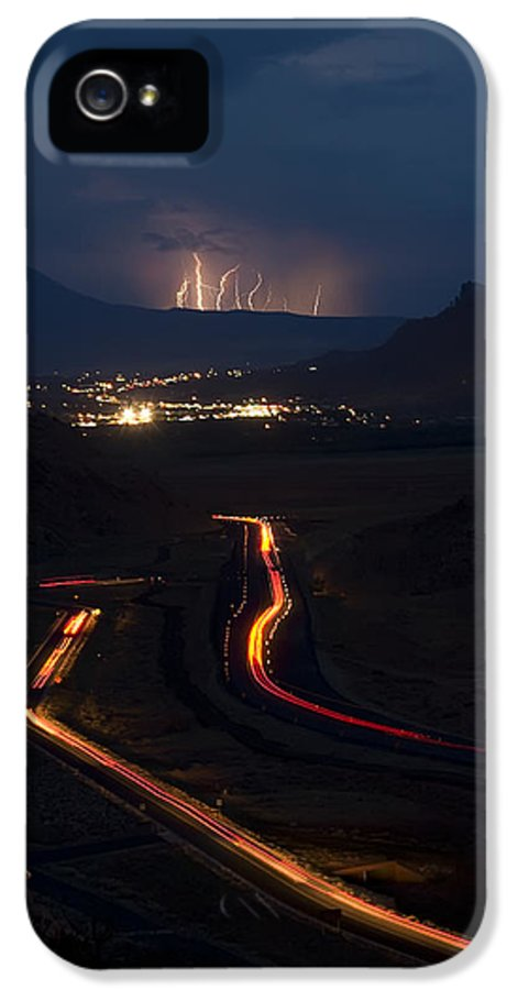3scape Photos IPhone 5 Case featuring the photograph Moab Storm by Adam Romanowicz