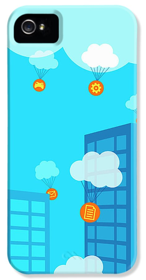 Access IPhone 5 Case featuring the photograph Mobile Apps And Cloud Computing by Ikon Images