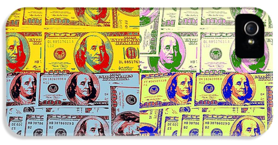 Money IPhone 5 Case featuring the photograph Modern Art Money by Kenneth Summers