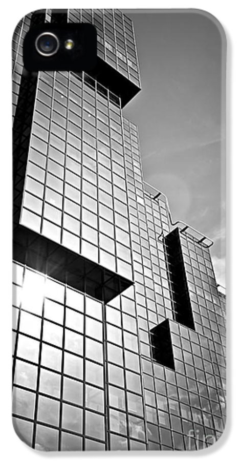 Building IPhone 5 Case featuring the photograph Modern Glass Building by Elena Elisseeva