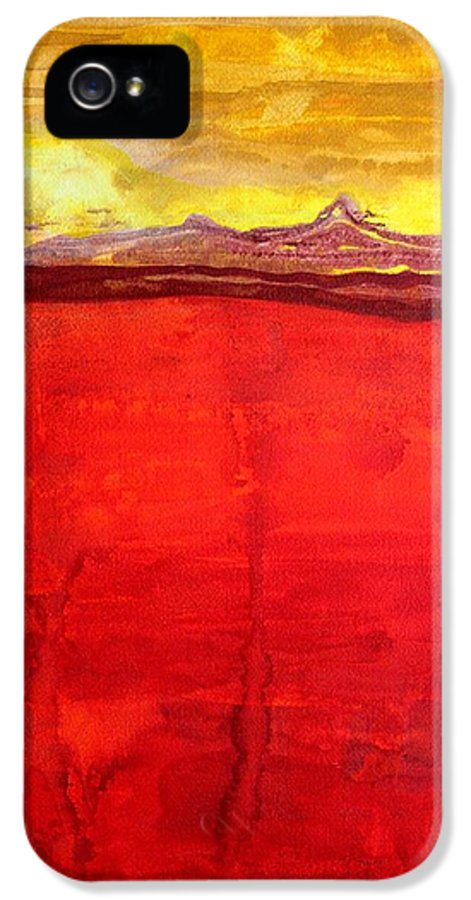 Mojave IPhone 5 Case featuring the painting Mojave Dawn Original Painting by Sol Luckman