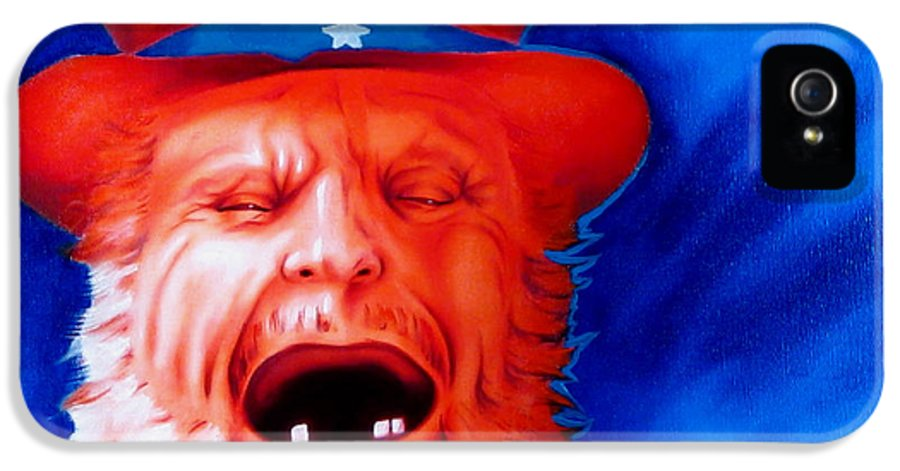Native American Art IPhone 5 Case featuring the painting Monkey's Uncle by Robert Martinez