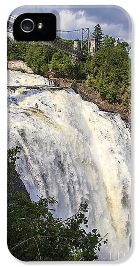 2013 IPhone 5 Case featuring the photograph Montmorency Falls Park Quebec City Canada by Edward Fielding