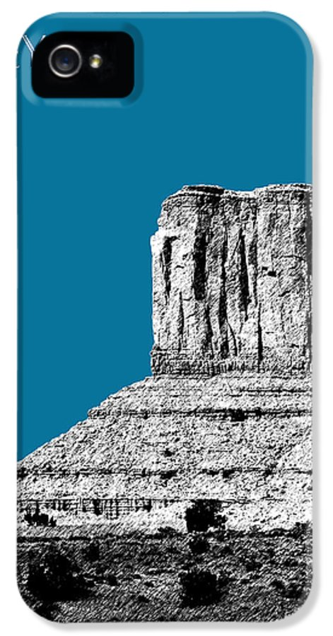 Pen And Ink IPhone 5 Case featuring the digital art Monument Valley - Steel by DB Artist