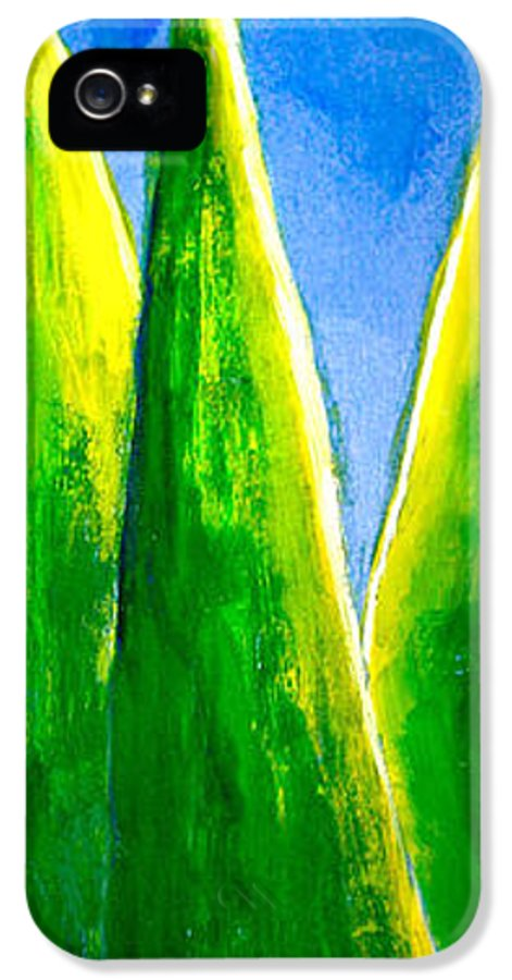 Abstract IPhone 5 Case featuring the painting Moon-lit Night by Nirdesha Munasinghe