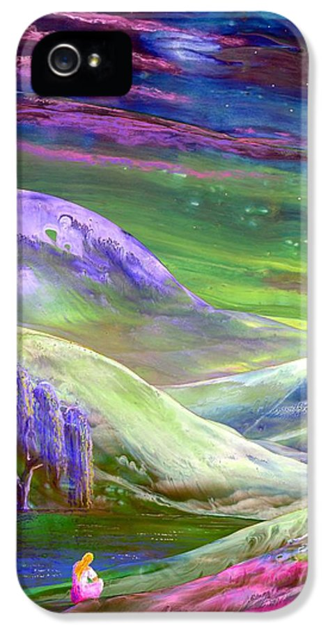 Moonlight IPhone 5 Case featuring the painting Moon Shadow by Jane Small