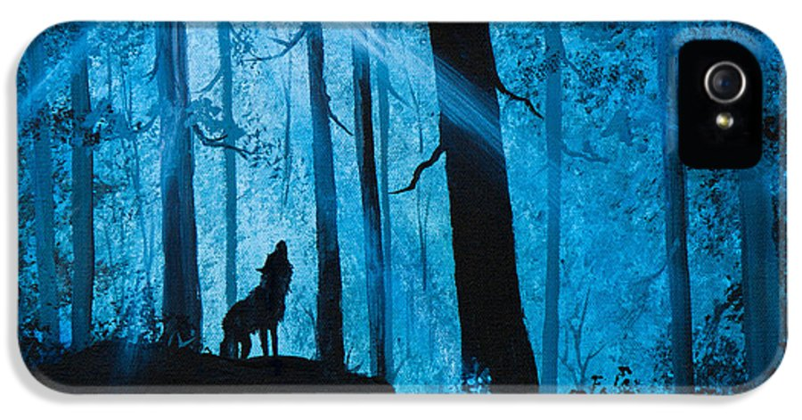 Landscape IPhone 5 Case featuring the painting Moonlight Serenade by C Steele