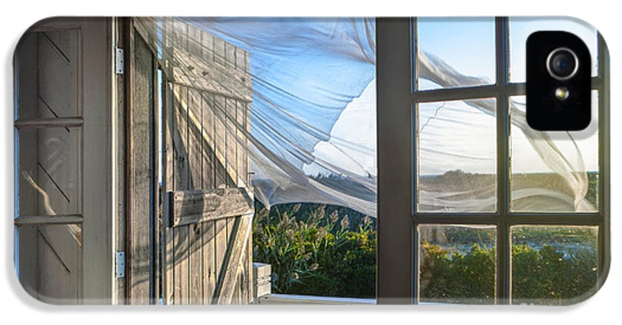 Beach IPhone 5 Case featuring the photograph Morning Breeze At The Beach House by Diane Diederich