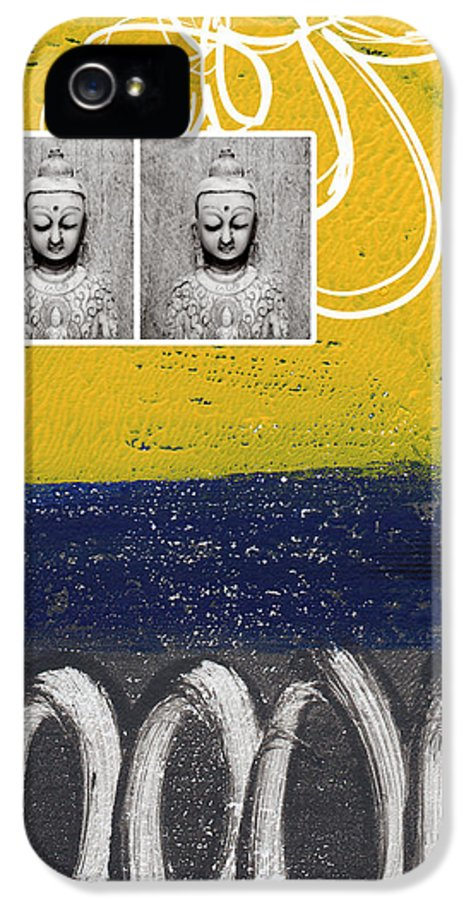 Buddha IPhone 5 Case featuring the painting Morning Buddha by Linda Woods