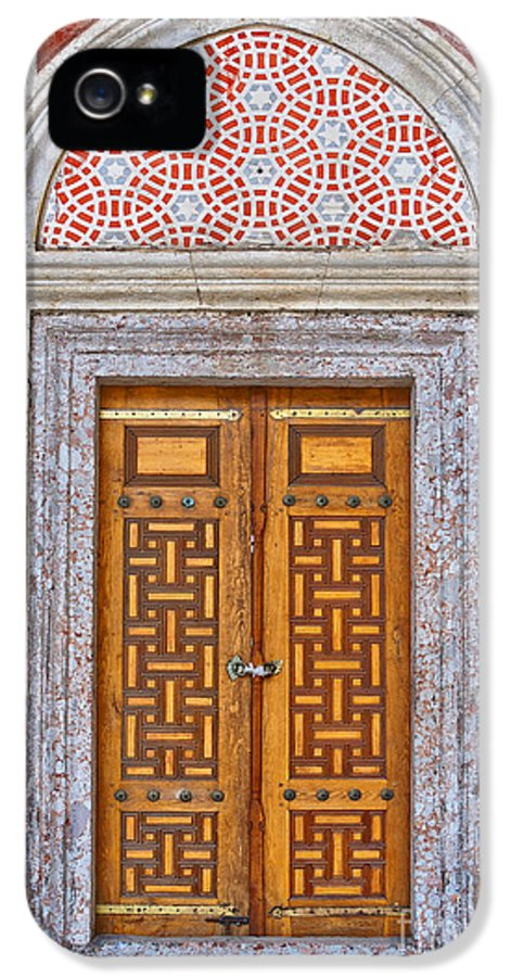 Door IPhone 5 Case featuring the photograph Mosque Doors 04 by Antony McAulay