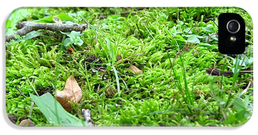 Moss IPhone 5 Case featuring the photograph Mossy Bed by Christina Frey