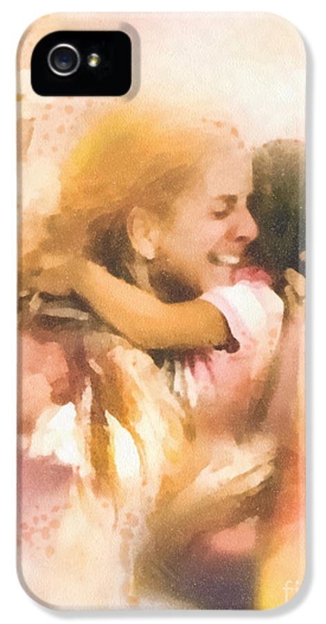 Mother's Arms IPhone 5 Case featuring the painting Mother's Arms by Mo T