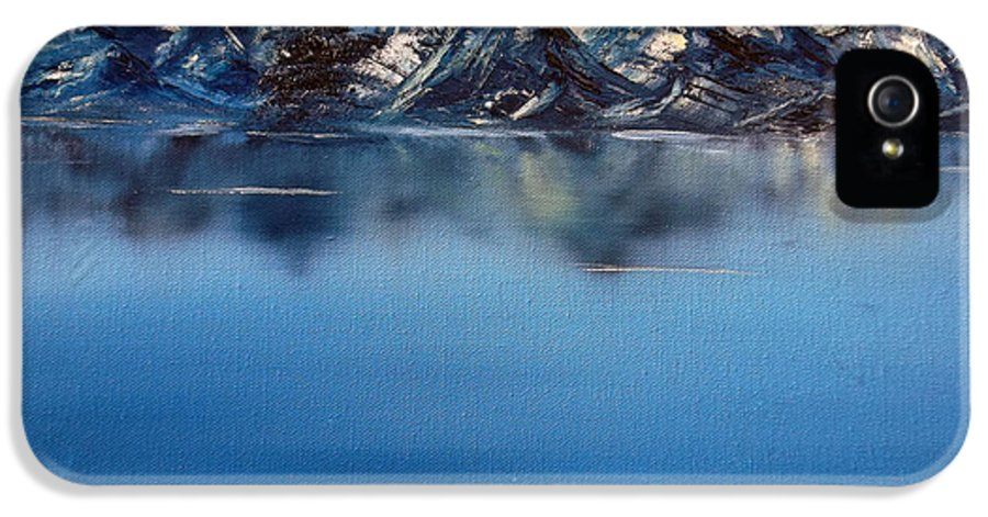 #landscape IPhone 5 Case featuring the painting Mountain Ridge Horizon by Cynthia Adams