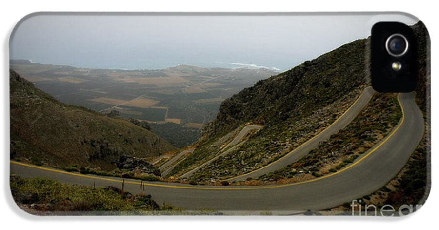 Mountain Road IPhone 5 Case featuring the photograph Mountain Road Crete by Lainie Wrightson
