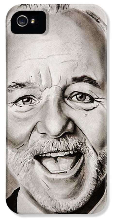 Bill IPhone 5 Case featuring the painting Mr Bill Murray by Brian Broadway