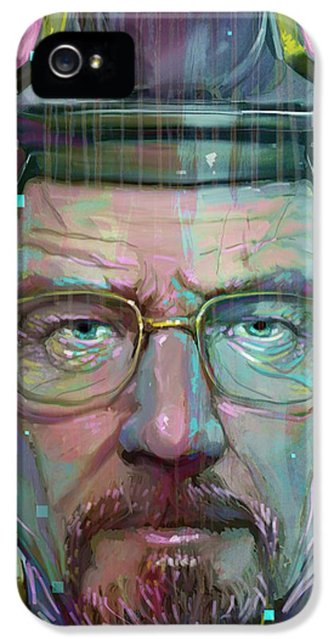 Walter White IPhone 5 Case featuring the digital art Mr. White by Jeremy Scott