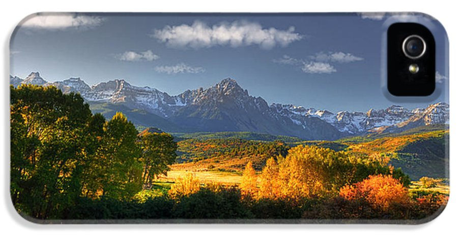 Dallas Divide IPhone 5 Case featuring the photograph Mt Sneffels And The Dallas Divide by Ken Smith