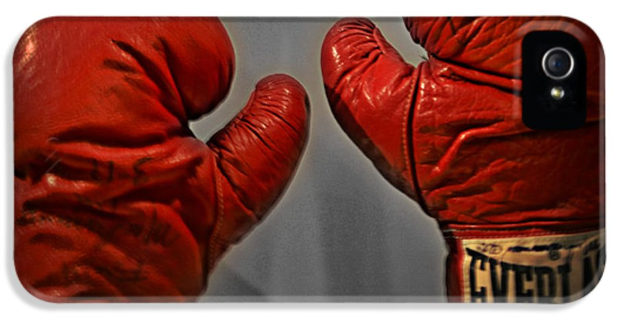 Muhammad IPhone 5 Case featuring the photograph Muhammad Ali's Boxing Gloves by Bill Cannon