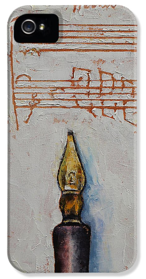 Calligraphy IPhone 5 Case featuring the painting Music by Michael Creese
