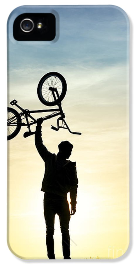Young Man IPhone 5 Case featuring the photograph Bmx Biking by Tim Gainey