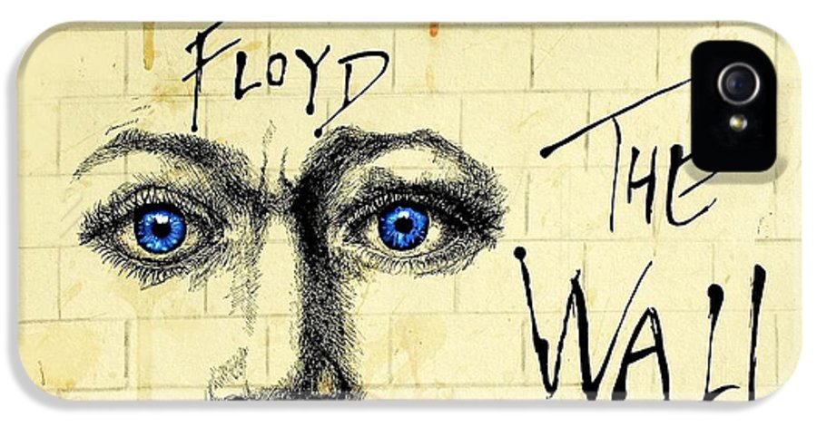 Black And White Face IPhone 5 Case featuring the drawing My Pink Floyd Wall by Todd Spaur