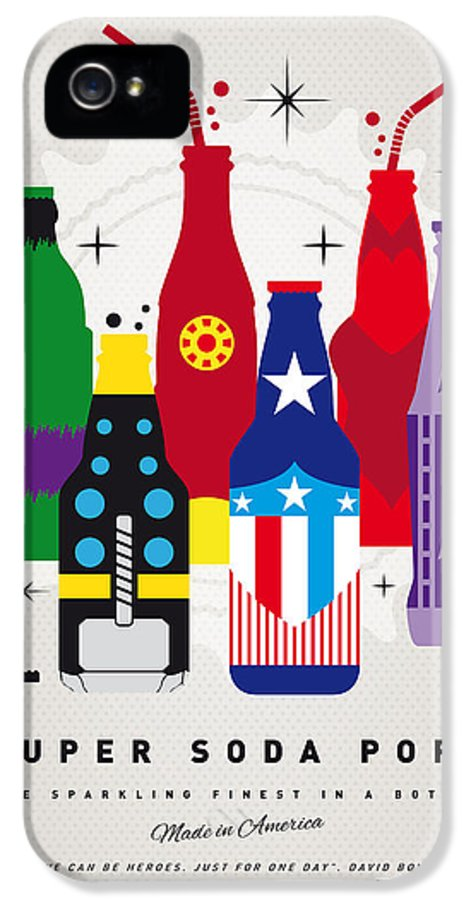 Superheroes IPhone 5 Case featuring the digital art My Super Soda Pops No-27 by Chungkong Art