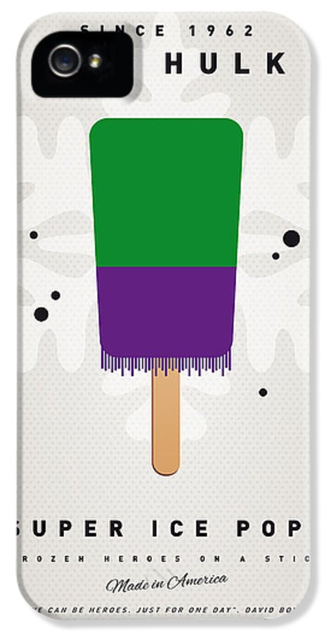 Superheroes IPhone 5 Case featuring the digital art My Superhero Ice Pop - The Hulk by Chungkong Art