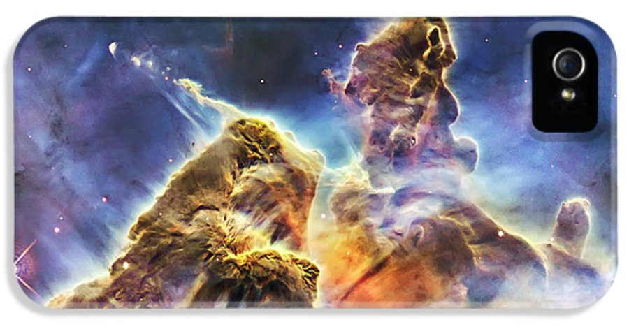 3scape Photos IPhone 5 Case featuring the photograph Mystic Mountain by Adam Romanowicz