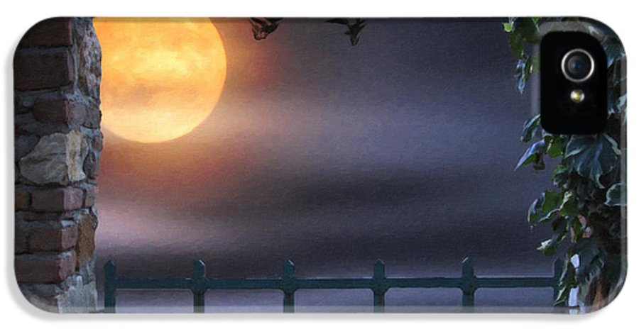 Kenny Francis IPhone 5 Case featuring the photograph Mystical Moon by Kenny Francis