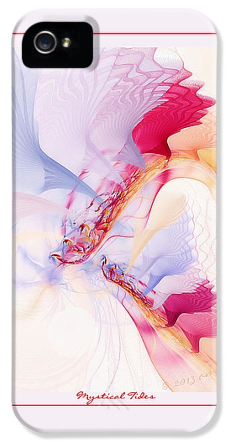 Fractal IPhone 5 Case featuring the digital art Mystical Tides by Gayle Odsather