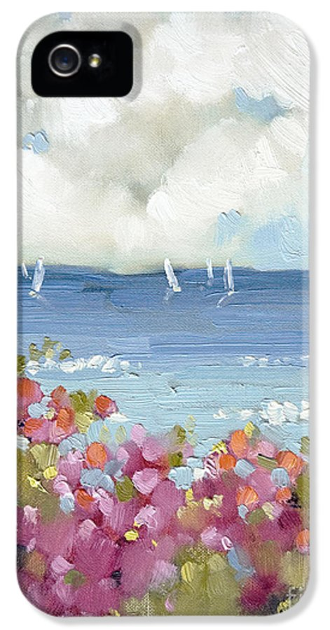 Nantucket IPhone 5 Case featuring the painting Nantucket Sea Roses by Joyce Hicks