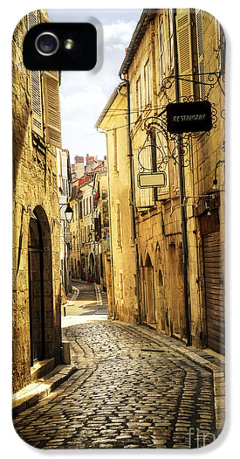 Perigueux IPhone 5 Case featuring the photograph Narrow Street In Perigueux by Elena Elisseeva