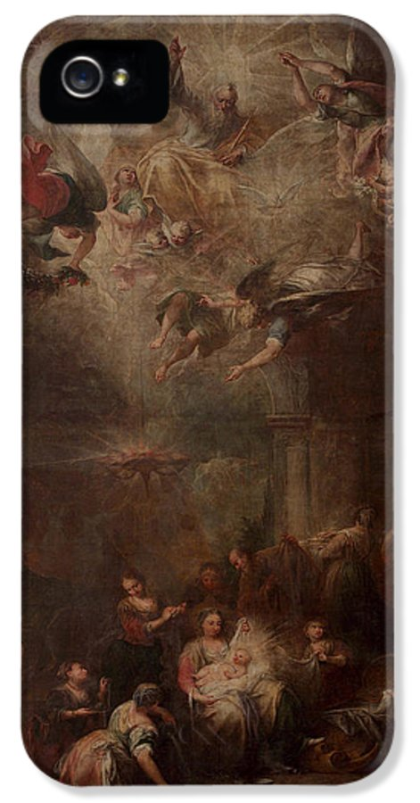 The Nativity IPhone 5 Case featuring the painting Nativity Of Mary by Andrea Celesti