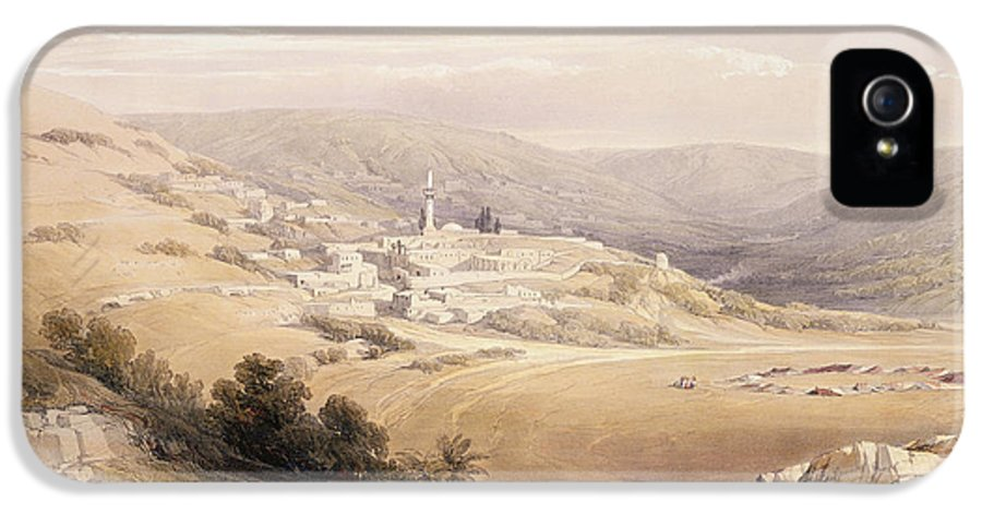 Landscape IPhone 5 Case featuring the painting Nazareth by David Roberts