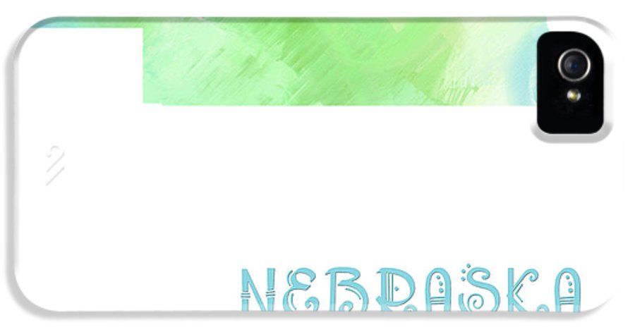 Andee Design IPhone 5 Case featuring the digital art Nebraska - Cornhusker State - Map - State Phrase - Geology by Andee Design
