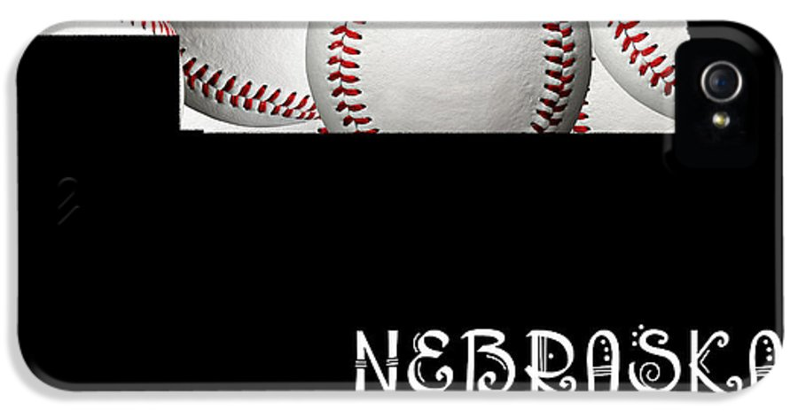 Andee Design IPhone 5 Case featuring the digital art Nebraska Loves Baseball by Andee Design